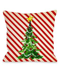 Look what I found on #zulily! Christmas Tree Stripe Throw Pillow #zulilyfinds