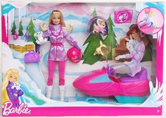 Barbie W3748 I Can Be... Arctic Rescuer Doll Playset with Accessories Girl's Toy #Mattel