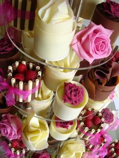 Mixed chocolate wrap wedding cakes