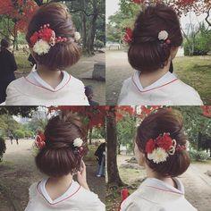 サンプル用に記録pic ・ ・ @dsw0211 ・・・・ ・ ・ #秋#hairarrange #bridal #hair #hairstyle #bridalhair #外国人風ヘアー#ブライダルフォト #ブライダルヘア #ウエディングフォト #igwedding #写真好きな人と繋がりたい #写真撮ってる人と繋がりたい #プレ花嫁 #cute#like4like#beauty#波ウェーブアレンジ#生花#cute #ゆるふわ#ルーズアップ#love#loveit#挙式ヘア #ルーズアップ#波ウェーブ#色打掛#白無垢#和装 Dress Hairstyles, Bride Hairstyles, Japanese Costume, Wedding Kimono, Japanese Wedding, Hair Arrange, Japanese Hairstyle, Bridal Hair Flowers, Like4like