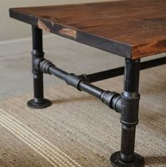 A rustic take on the industrial look, this easy DIY incorporates plumbers' pipes as the table legs. A reclaimed wood top is ideal, but the worn appearance can be forged