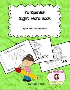 FREE Spanish Sight Word Mini-Reader: Yo. Printed 16 febrero.