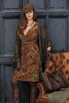 Menswear inspired details from Lauren for fall
