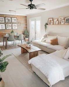 Boho Living Room, Living Room Colors, Home And Living, Living Room Designs, Ikea Living Room, Living Room White Walls, Small Living Dining, Beige Living Rooms, Small Living Rooms