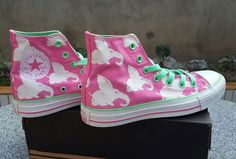 7770b1484e56 Pink Converse Flying Elephant Chuck Taylor All Star High Tops Womens Shoes   converse  shoes