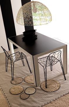 ESEDRA DESIGN - 90G - Tavolo con struttura in alluminio lucidato o laccato in vari colori - PAOLO CHIANTINI http://www.esedradesign.it/product.asp?id=17
