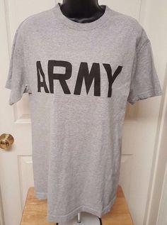 """Murina Men's Gray/Black """"ARMY"""" T-Shirt Size M #Murina #GraphicTee"""