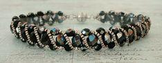 Linda's Crafty Inspirations: Bracelet of the Day: Renaissance Bracelet - Jet Celsian