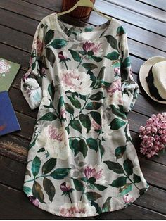 GET $50 NOW | Join RoseGal: Get YOUR $50 NOW!http://m.rosegal.com/print-dresses/button-down-floral-shirt-dress-766459.html?seid=8181133rg766459