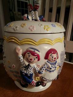 Raggedy Ann Cookie Jar Vintage 1973