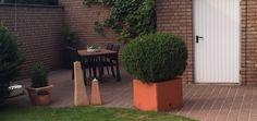 Dekoration für den Garten aus Styropor! Blumentopf im individuellen Design