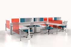 Browse our Custom Office Furniture starter ideas for today's Modern Workplace including custom desks, custom workstations, custom computer desks and built in office cabinets with the most design options available anywhere! Custom Computer Desk, Custom Desk, Creative Office Space, Creative Studio, Modular Workstations, Executive Office Furniture, Modular Office, Office Seating