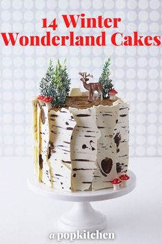 Winter Wonderland Cakes Are Taking Over the Internet and We're Here for All the Snow-Inspired Sweetness #cake #desserts #holidaydesserts #Christmasdesserts #falldesserts #icecream #icecreamcake