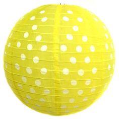 Polka Dot Lantern - Yellow