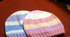 Tässä lähinnä itseäni varten ohje tekemiini vauvanmyssyihin. Kiva jos tästä on apua jollekulle kanssaneulojalle.   Tarvitset: ohuita vau... Knitted Hats, Knitting, Fashion, Moda, Tricot, Fashion Styles, Breien, Stricken, Weaving