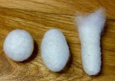 This needle felting tutorial explains how to create the basic 3D shapes