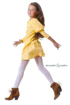 The Daisy Dress.  Fall looks.  Fashion.  Kids Fashion.