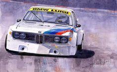 Yurly Shevchuk WATERCOLOR Bmw 3 0 Csl 1972 1975 Painting