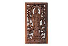 Quan Yin Wall Sculpture, Suar Wood on OneKingsLane.com