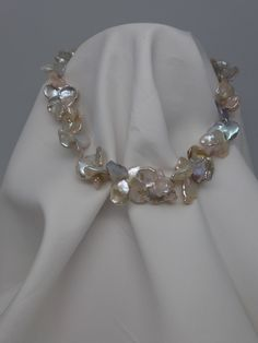 Not you grandmother's pearls. Keshi pearls choker necklace