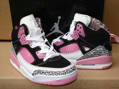 Pink and black air Jordan's :) love 'em www.twodollarclic...