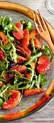 Moroccan Blood Orange and Carrot Salad.  Made this weekend -- really good.  Recipe by Melissa Clark, photograph by Andrew Scrivani.