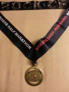 2014 rock cf 5k finisher medal race bling