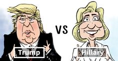 The Difference Between Trump And Clinton Summed Up In One Cartoon -                 If you missed Donald Trump and Hillary Clinton's speeches at their respective conventions, cartoonist  Joe Heller  has you covered �...