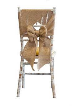 Hessian bow on chiavari chair