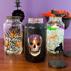 Halloween Jar Trio project from DecoArt