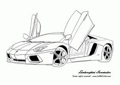 awesome thumb Cars coloring page Lamborghini Aventador Free Download