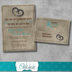Rustic Charm Wedding Invitation and Matching by OohlalaPoshDesigns, $20.00