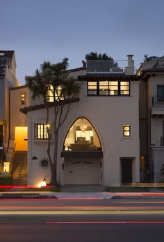 This existing #home is a 3-story 4,000 square foot Spanish Mission-style home built in the 1920's and sits directly across from the St. Francis Yacht Club on Marina Boulevard. No changes were possible for the historic facade. Photo Credit: Paul Dyer Photography