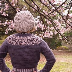 Ravelry: Kirsebærblomstring / Cherry Bloom / Kirschblüte pattern by Lene Tøsti Vintage Knitting, Lace Knitting, Knit Crochet, Cherry Blooms, Ravelry, Knitting For Kids, Wool Sweaters, Sewing Crafts, Sewing Ideas
