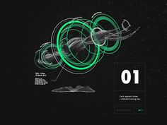 """""""Some sneak peek for a Nike+ AR project. A data visualisation sculpture showing the runner his past 12 trainings performances. App Design, Logo Design, Graphic Design, Web Layout, Layout Design, Nails Polish, Event Banner, 3d Printing Service, Presentation Layout"""