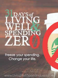 Want to kick-start your finances and reset your budget?  Join us this October for 31 Days of Living Well & Spending Zero!  Simply sign up to have our fun & motivating daily challenges sent straight to your inbox, plus get instant access to our helpful preparation guide.  It's fun, it's free, and it might just change your life!