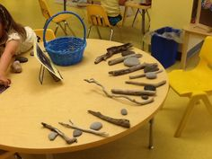 """Pattern making with natural materials at The Sunflower School in Orangeville - from Heather Jackson ("""",)"""