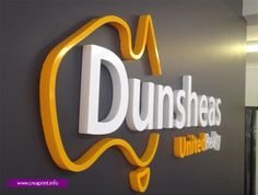 3D letters wall #signage #logo #corporate info@creaprint.info | +961 3 11 99 49