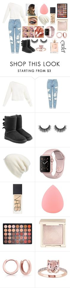 """""""Come Cuddle With Me"""" by bronte-ryan ❤ liked on Polyvore featuring Topshop, UGG, Halogen, NARS Cosmetics, Zodaca, Morphe, Jouer, Bling Jewelry and Chanel"""