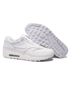 outlet store sale 41845 ee171 Men s Nike Air Max 1 Shoes All White Sale