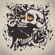 #tattoodrawing #tattoodesign #tattoos #tattoo #skulltattoo #skulltattoodrawing #skulltattoodesign #skull #scroll #scroll #spitshading…