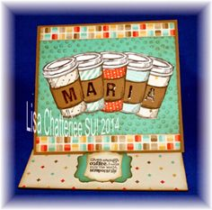 PERFECT BLEND BIRTHDAY CARD FROM LISA C.  COOL CARD FUN FOLD!