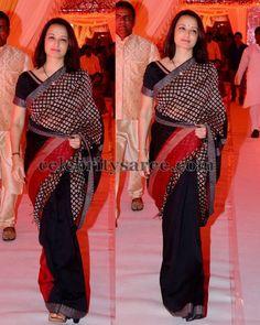 Amala Akkineni Half and Half Saree Indian Dresses, Indian Outfits, Indian Clothes, Beautiful Saree, Beautiful Outfits, Divas, Checks Saree, Drape Sarees, Tamil Girls