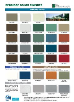 Best Metal Roofs Color Chart Metal Roof Color Chart From 400 x 300