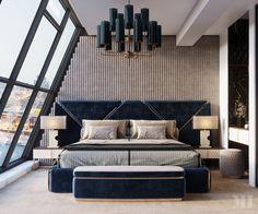 Luxury Bedroom Design on Behance Modern Luxury Bedroom, Luxury Bedroom Furniture, Master Bedroom Interior, Luxury Bedroom Design, Room Design Bedroom, Luxurious Bedrooms, Home Decor Bedroom, Luxury Interior Design, Interior Work