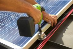 With standing seam metal roofing panels, clamps secure the racks to the seam. Any time installers can avoid penetrating roofing material, they save time and money. This type of mounting also avoids potential leaks. http://www.solarpowerworldonline.com/2016/03/metal-roof-solar-ready/