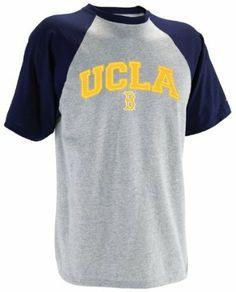 NCAA UCLA Bruins Men's Short Sleeve Raglan Tee (Oxford/Vintage True Navy, Medium) Russell Athletic. $17.97