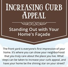 Curb Appeal Infographic by Hooks and Lattice - See how easy it is to improve your home with window boxes, outdoor planters, shutters, faux balconies and more!