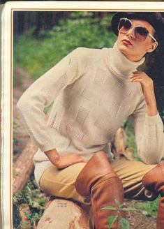 Love the turtleneck sweater paired with beret and over-the-knee boots! Brigitte Bardot, Thigh High Boots, Over The Knee Boots, Vintage Boots, Beret, Thigh Highs, Turtle Neck, Mens Fashion, Glasses