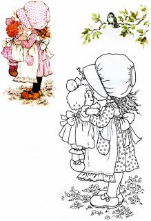 Sarah Kay to colour in Sarah Key, Holly Hobbie, Hobbies To Try, Hobby Horse, Coloring Book Pages, Digi Stamps, Mandala Art, Illustrations, Embroidery Patterns